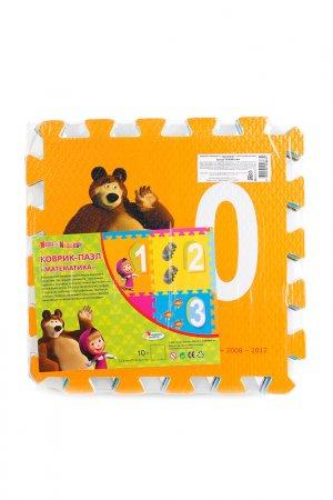 Коврик-пазл Маша и медведь Играем вместе. Цвет: оранжевый