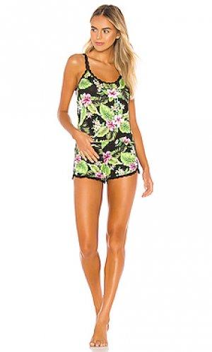 Пижамный набор tropical Hanky Panky. Цвет: черный