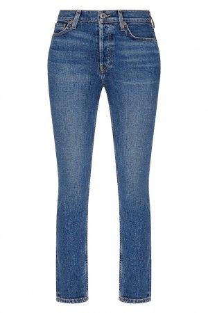 Зауженные светло-синие джинсы Re/done. Цвет: синий