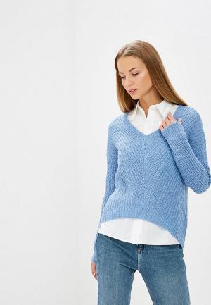 Пуловер Jacqueline de Yong. Цвет: голубой