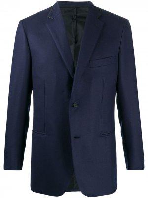 Однобортный пиджак Brioni. Цвет: синий