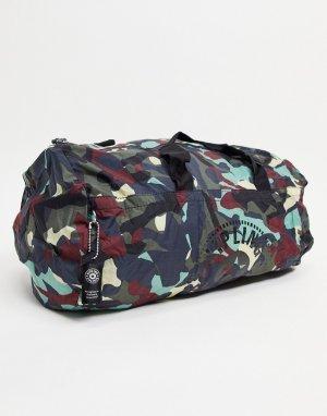 Спортивная складывающаяся сумка -Серый Kipling