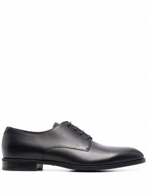 Туфли дерби на шнуровке Emporio Armani. Цвет: черный