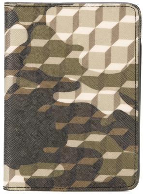 Обложка для паспорта Camocube Pierre Hardy. Цвет: зелёный