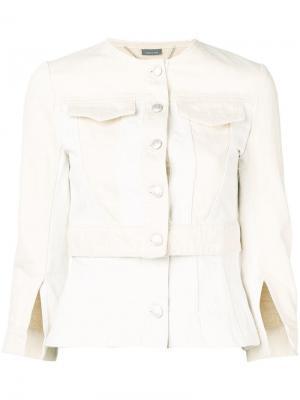 Джинсовая куртка панельного дизайна Alexander McQueen. Цвет: бежевый