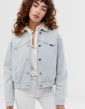 Джинсовая куртка с подкладкой из искусственного меха -Синий Wrangler