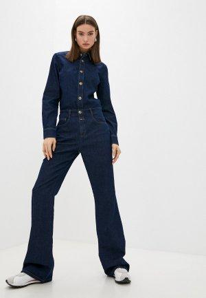 Комбинезон джинсовый Closed. Цвет: синий