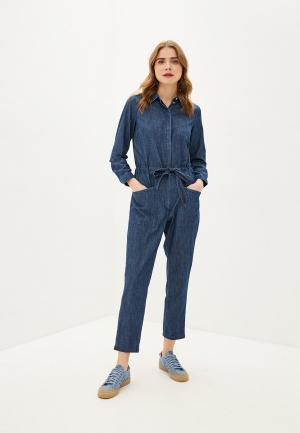 Комбинезон джинсовый Tom Tailor. Цвет: синий