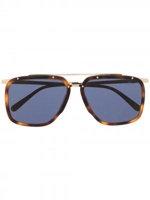 Солнцезащитные очки-авиаторы Brioni. Цвет: синий