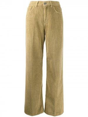 Вельветовые расклешенные брюки Haikure. Цвет: нейтральные цвета