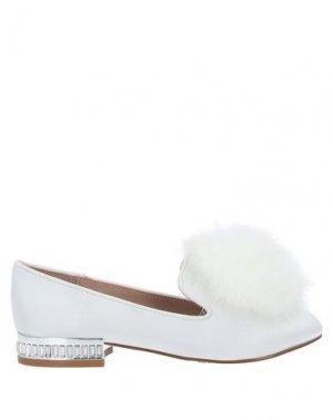 Мокасины MINI MISS KG. Цвет: белый