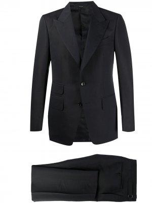 Костюм-двойка с однобортным пиджаком TOM FORD. Цвет: синий