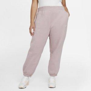 Женские флисовые брюки Nike Sportswear Trend (большие размеры) - Розовый
