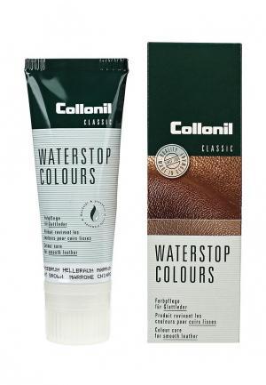 Крем для обуви Collonil Waterstop Colours, коричневый, 75 мл. Цвет: коричневый