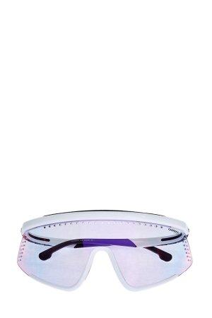 Очки-маска Hyper Fit в спортивном стиле с антибликовым покрытием CARRERA (sunglasses). Цвет: белый