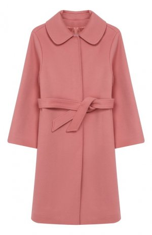 Шерстяное пальто Dolce & Gabbana. Цвет: розовый