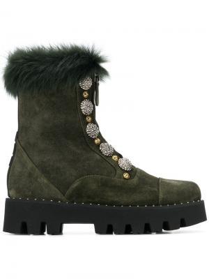 Ботинки на молнии Alberto Gozzi. Цвет: зеленый