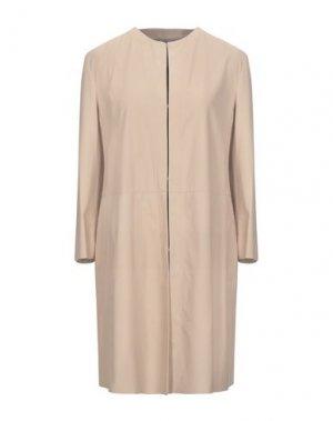 Легкое пальто DROMe. Цвет: телесный