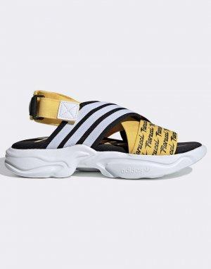 Желтые сандалии x Fiorucci Magmur-Желтый adidas Originals