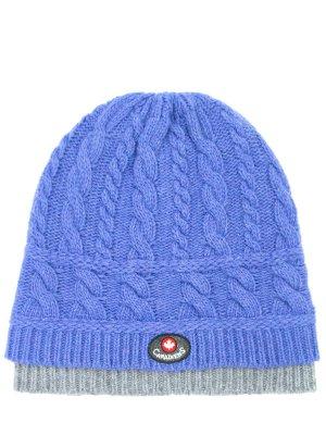 Вязаная шапка из шерсти Canadiens. Цвет: голубой