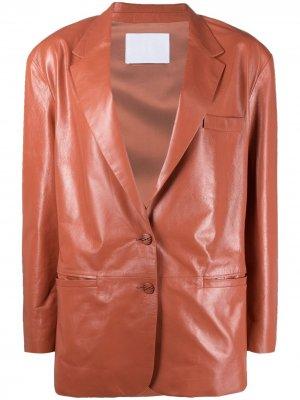 Куртка с заостренными лацканами Drome. Цвет: розовый