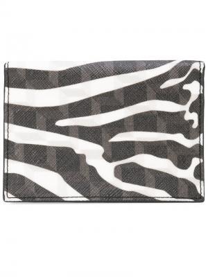 Бумажник в зебровую полоску Pierre Hardy. Цвет: черный
