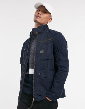 Выбеленная куртка в стиле милитари -Синий G-Star
