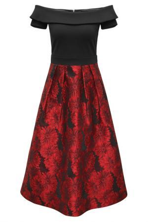Платье Apart. Цвет: черный, красный