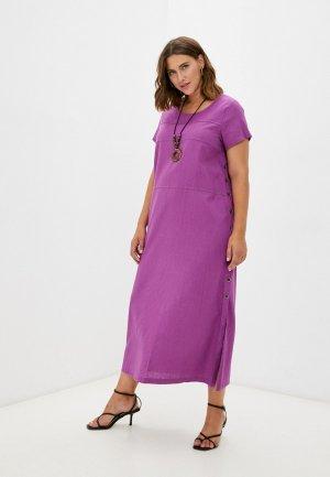 Платье и колье Milanika. Цвет: фиолетовый