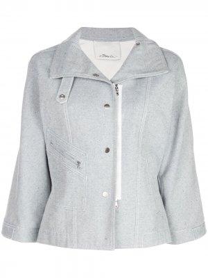 Джинсовая байкерская куртка 3.1 Phillip Lim. Цвет: синий