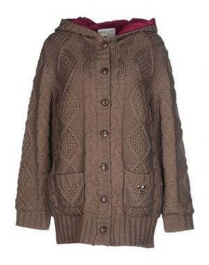 Куртка MAISON ESPIN. Цвет: хаки