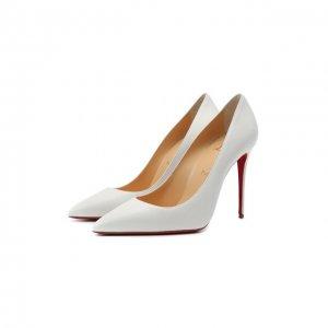 Кожаные туфли Kate 100 Christian Louboutin. Цвет: белый
