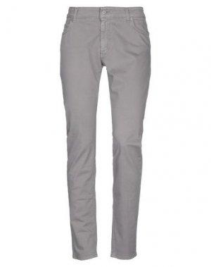 Джинсовые брюки LIST. Цвет: серый