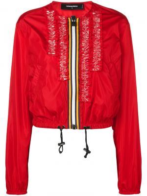 Куртка-бомбер на молнии Dsquared2. Цвет: красный