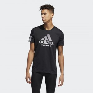 Футболка RUN IT TEE Performance adidas. Цвет: черный