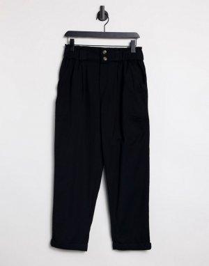 Черные брюки прямого кроя -Черный цвет American Eagle