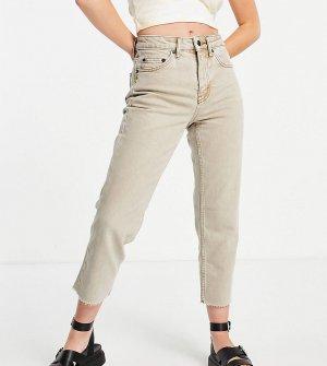 Прямые джинсы песочного цвета Petite-Светло-бежевый цвет Topshop