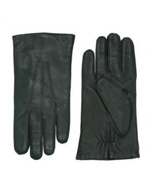 Перчатки ORCIANI. Цвет: темно-зеленый