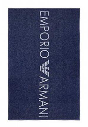 Полотенце EMPORIO ARMANI. Цвет: синий