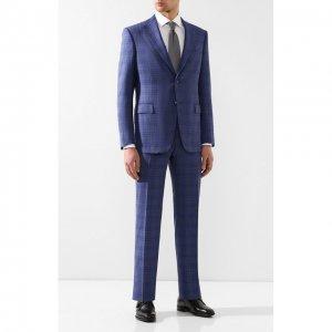 Шерстяной костюм Zilli. Цвет: синий