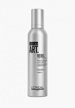 Мусс для укладки LOreal Professionnel L'Oreal пудровый Tecni.Art Rebel Push-up объема волос, 250 мл. Цвет: прозрачный