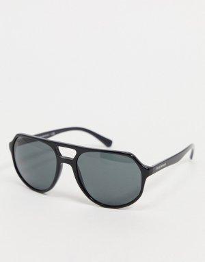 Черные солнцезащитные очки-авиаторы -Черный цвет Emporio Armani