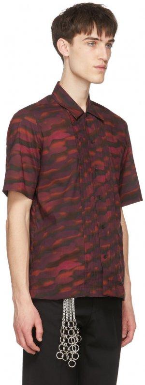 Burgundy Len Lye Edition Camillo Short Sleeve Shirt Dries Van Noten. Цвет: 358 burgundy