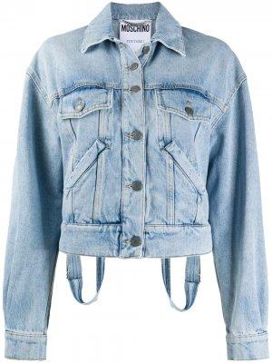 Джинсовая куртка Moschino. Цвет: синий