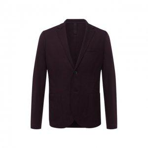 Шерстяной пиджак Harris Wharf London. Цвет: бордовый