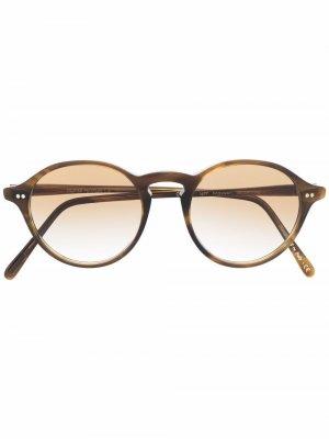 Солнцезащитные очки Maxson с затемненными линзами Oliver Peoples. Цвет: коричневый