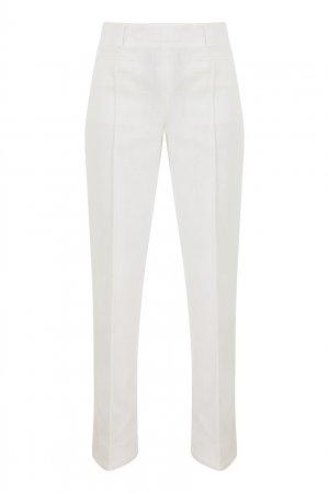Белые хлопковые брюки Acne Studios. Цвет: белый