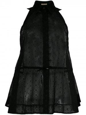 Прозрачная рубашка без рукавов со шнуровкой Alaïa Pre-Owned. Цвет: черный