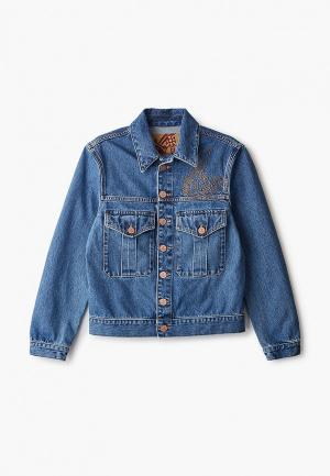 Куртка джинсовая Vivienne Westwood Anglomania. Цвет: синий
