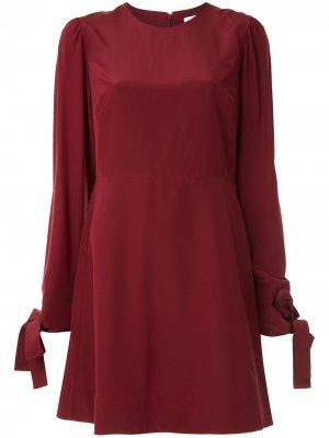Платье-трапеция с длинными рукавами CK Calvin Klein. Цвет: красный